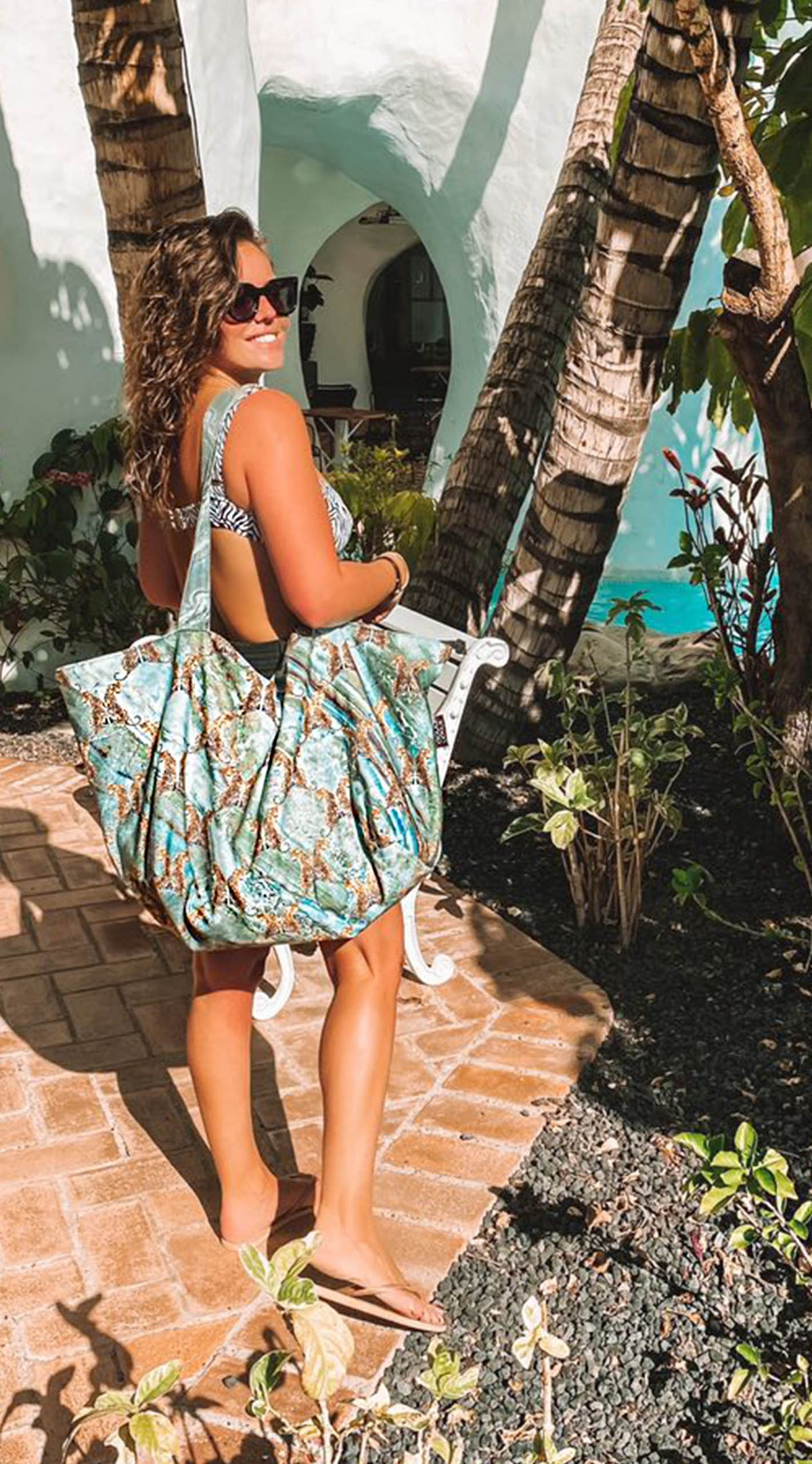 Marble Big Shopper XL - Aqua-licious