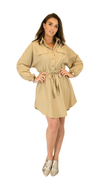 Elegant Dessert Brown Lady Dress - Monica