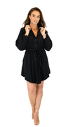 Elegant Black Lady Dress - Monica