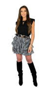Black & White Ruffle Skirt - Bianka