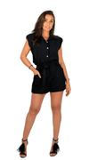 Black Sleeveless Blouse - Vanny