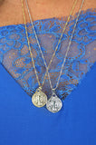 Silver coloured Traveler Coin Neckless (Xtra Long)