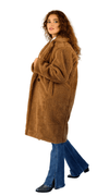 Oversized Teddy Coat - Brown