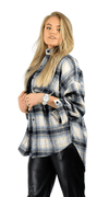Checked Blouse Blue - Scott