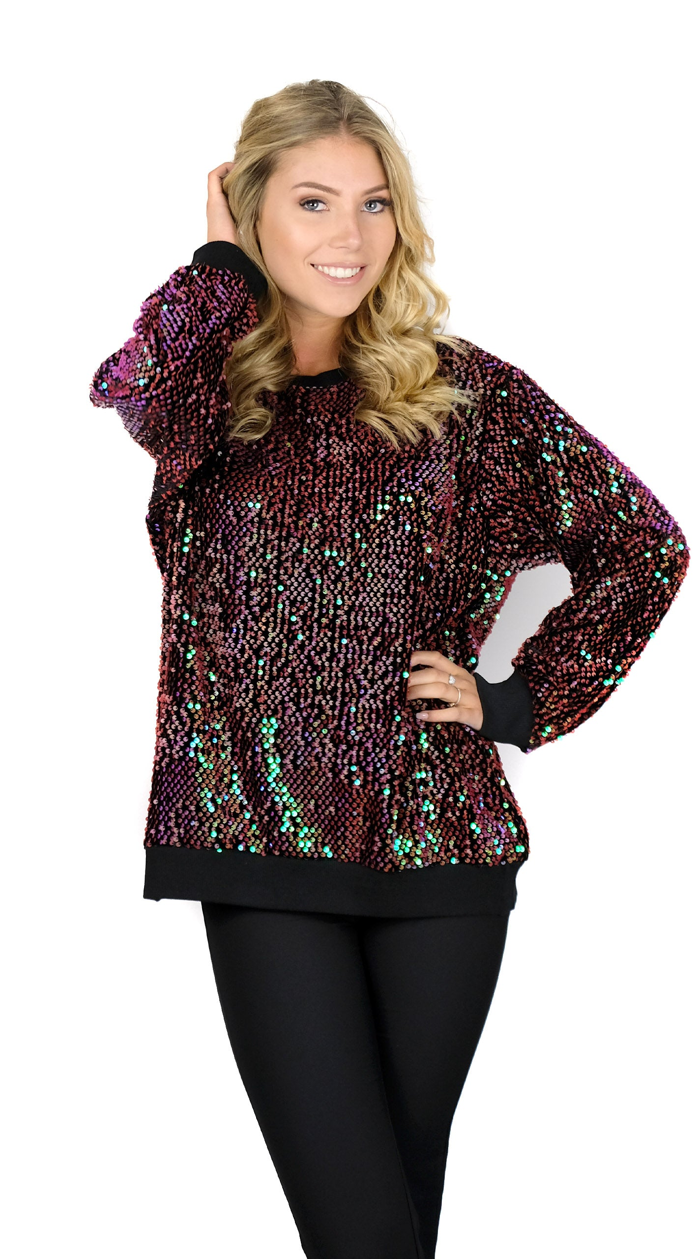 BUYLAU | Disco Fever Bordeaux Sweater