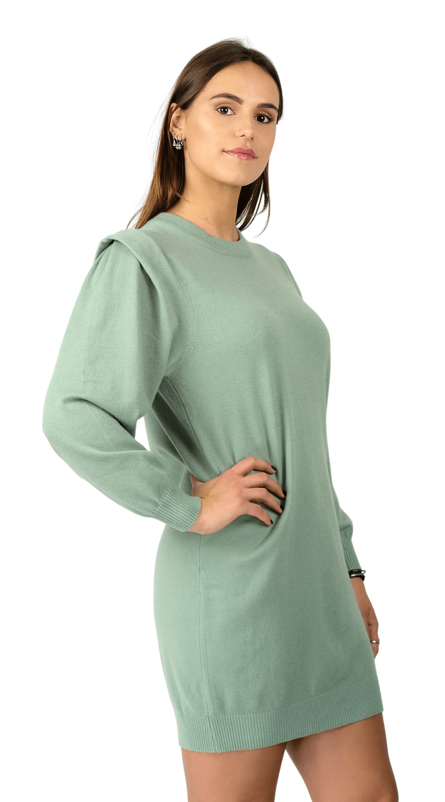 Fusion Knit Dress Mint - Lea