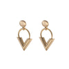 Sweet V Earrings - Gold