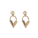 Gold Sweet V Earrings