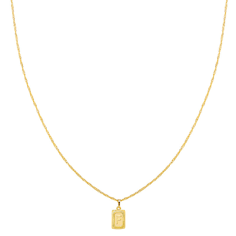 Gold Necklace 'F'