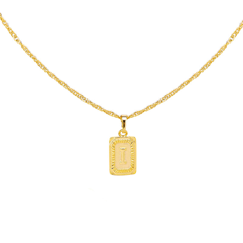 Gold Necklace 'I'