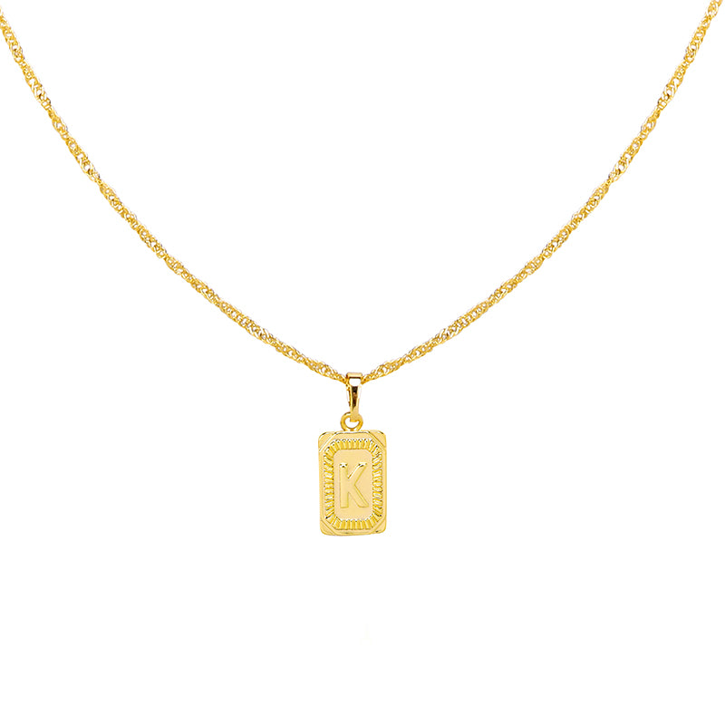 Gold Necklace 'K'