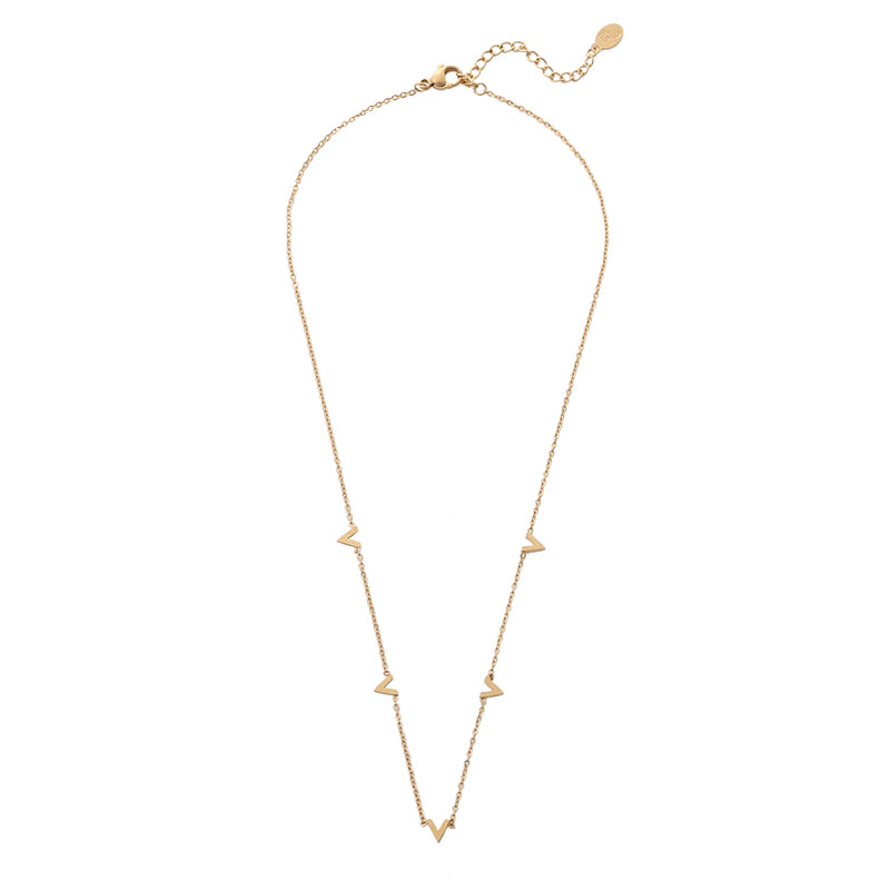 Only V Necklace - Gold