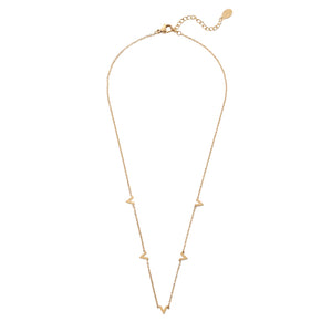 Only V Gold Necklace