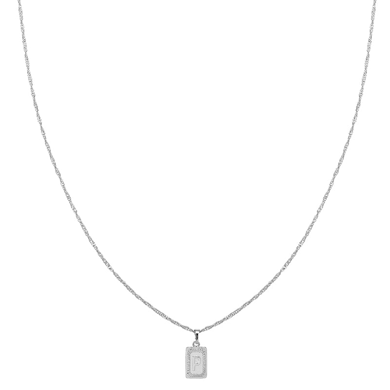 Silver Necklace 'P'