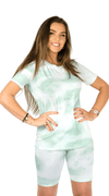 Green Tie Dye Biker Twin Set - Kim Kay