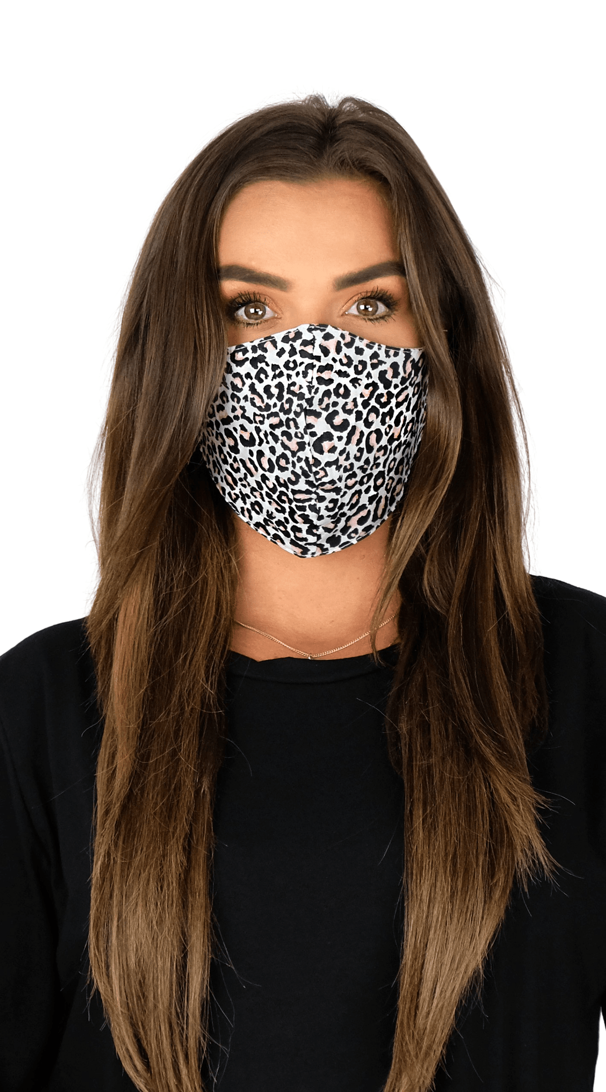 Luxe Face Mask - Pink Leopard