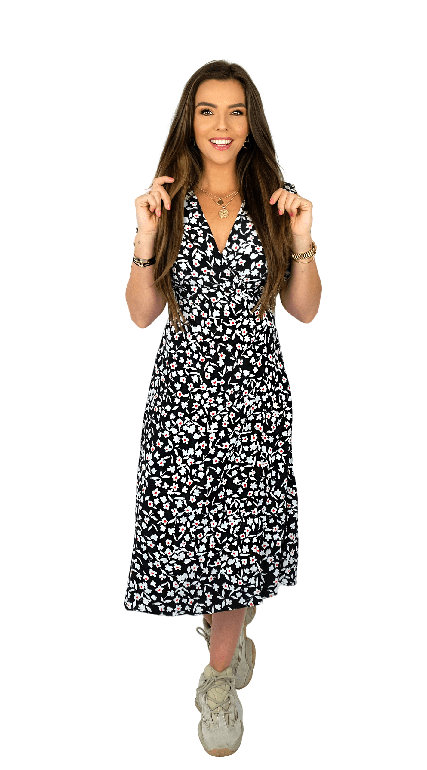 Lovely Long Flower Dress - Daisy