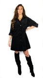 Lyzza Corduroy Dress- Black