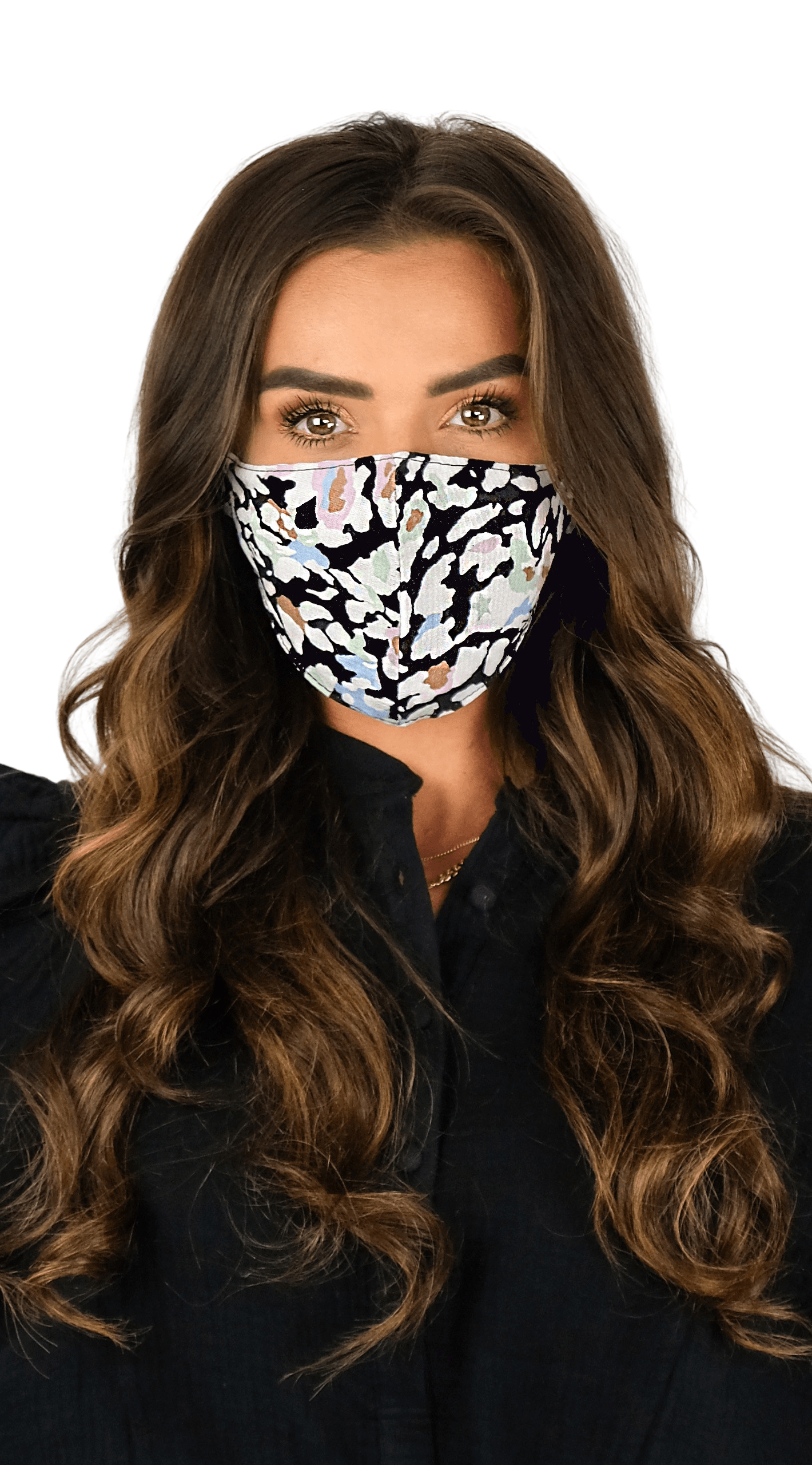 Luxe Face Mask - Colorful leopard