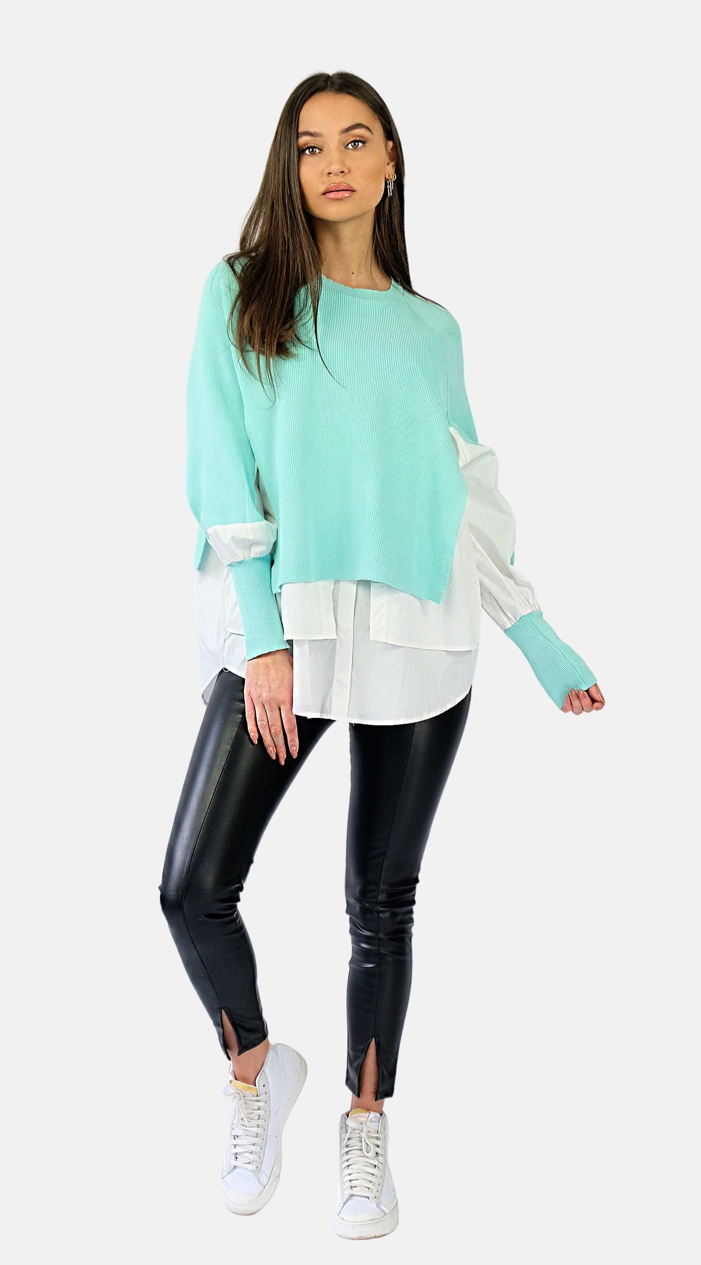 Layer Blouse Sweater - Leonie