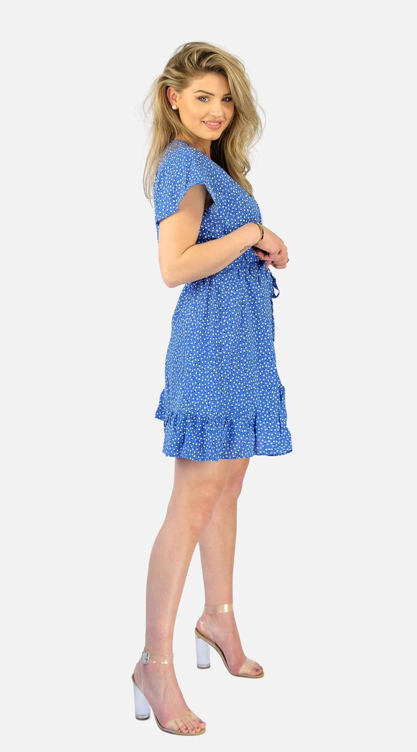 Blue Hearts Dress - Bibi