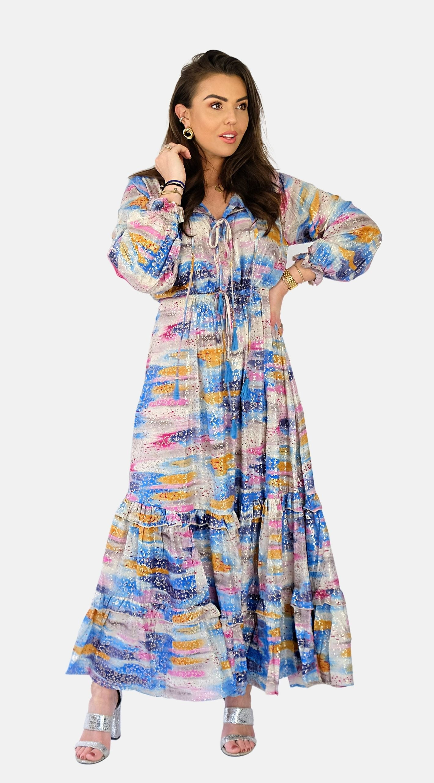 Multi Colour Maxi Dress - Melisa