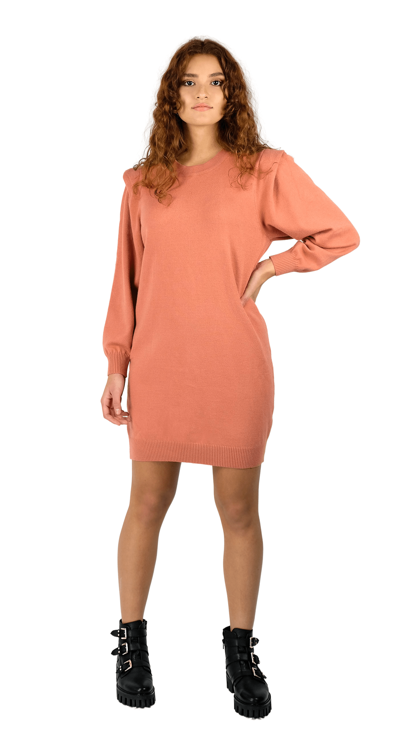 Fusion Knit Dress Pink - Lea