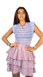 Lilac Lace Sleeveless Tee - Fiore