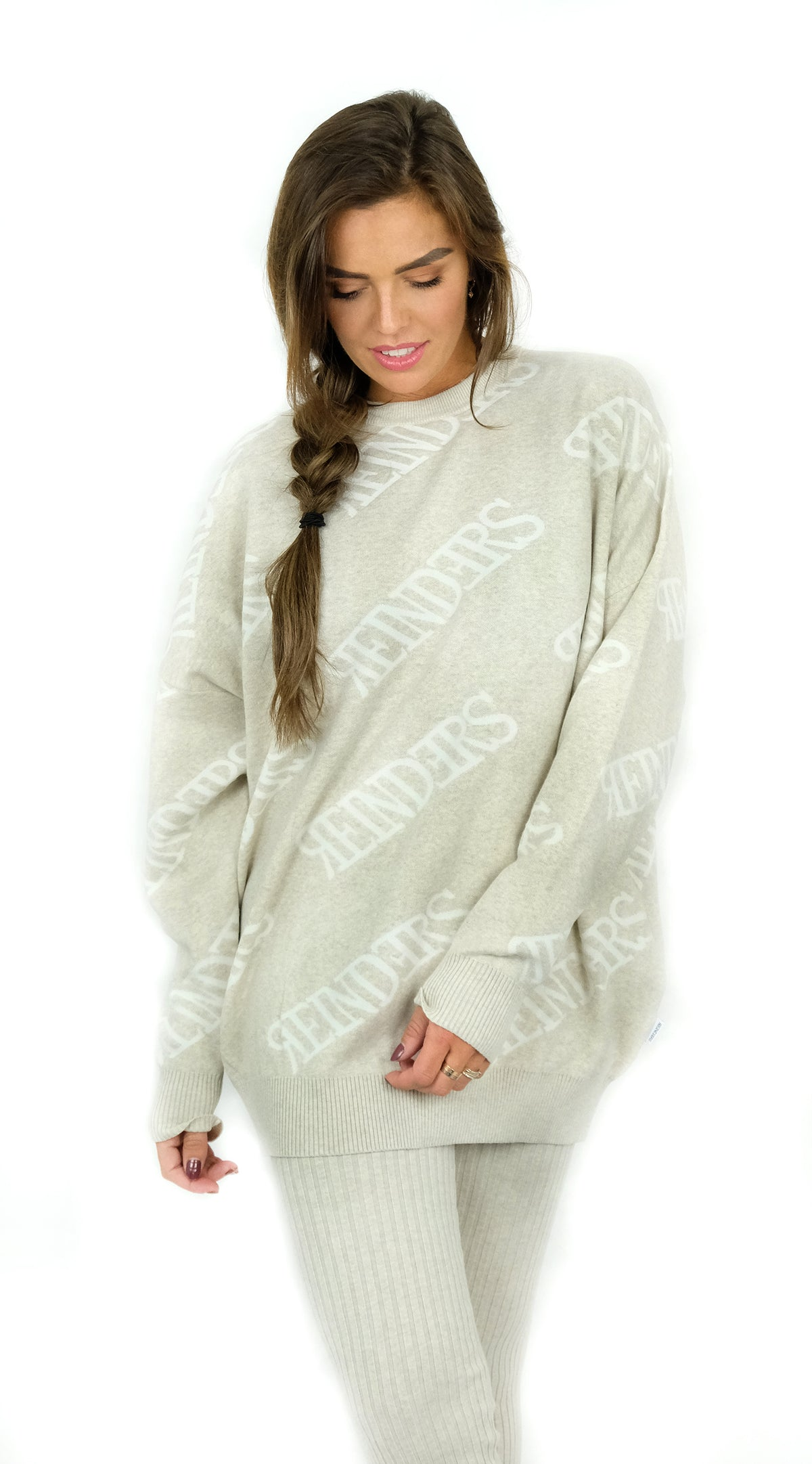 BUYLAU | REINDERS | Reinders Sweater Roundneck All Over Creme