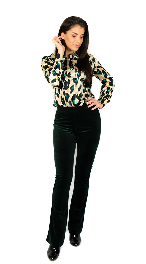 BUYLAU | Charming Tiger Blouse Green
