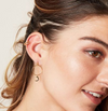 Gold Double Straight Rainbow Earcuff