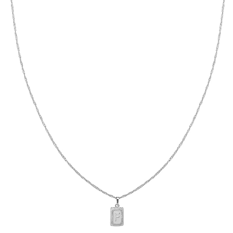 Silver Necklace 'F'