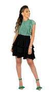 Green & White Dots Sleeveless Blouse - Vanny
