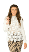 White Lace Top - Jessica