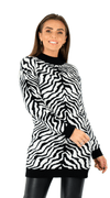 Zebra Sweater Dress - Polly