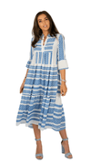 Aztec Baby Blue Long Dress - India