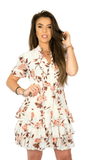 Summer Flower Créme Dress- Yve