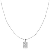 Spiritual Cross Necklace - Silver