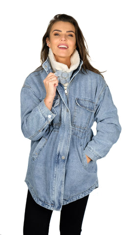 Long Lammy Denim Jacket