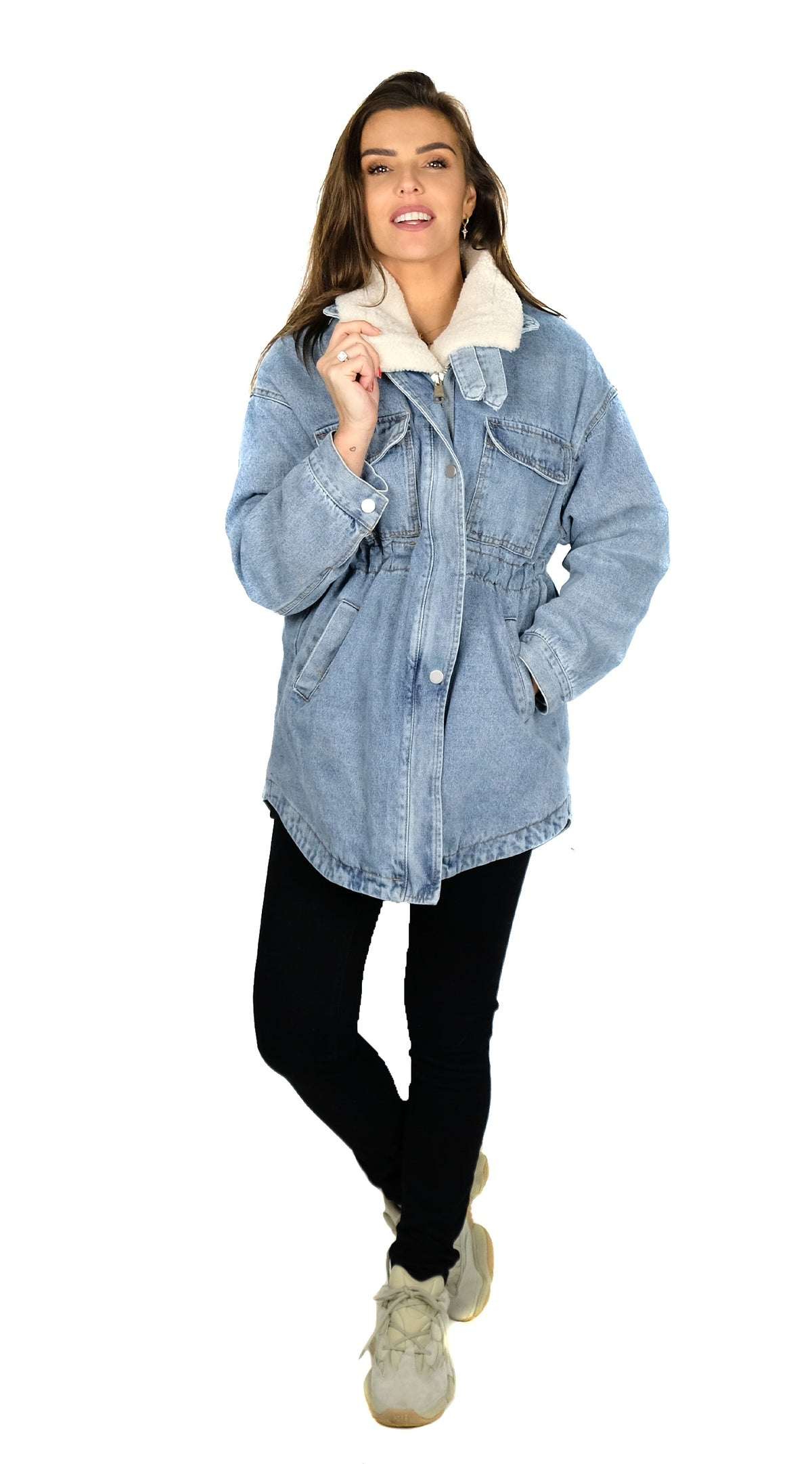 BUYLAU | Long Lammy Denim Jacket