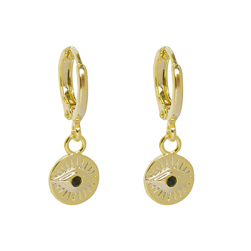 Gold Lucky Charm Earrings