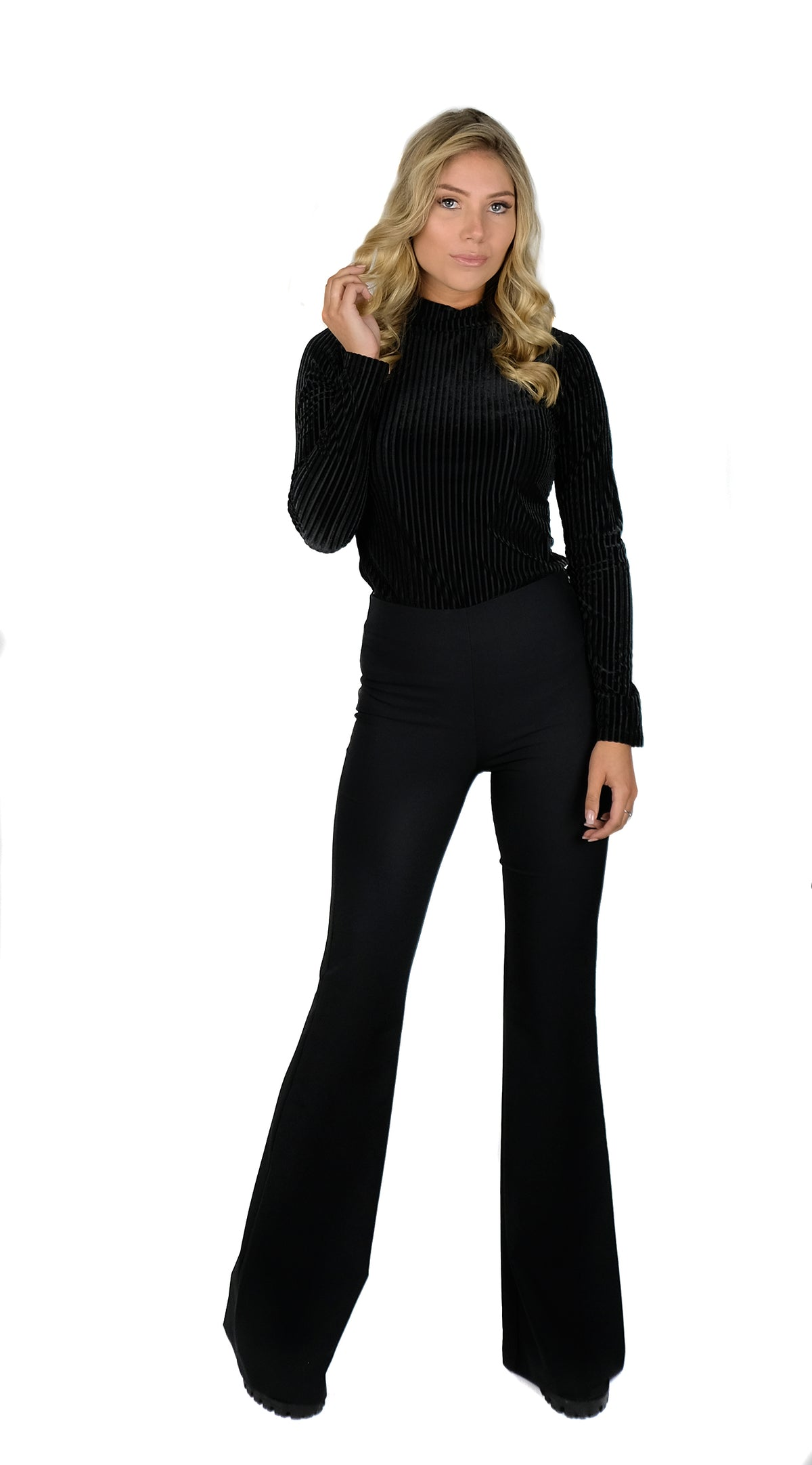 BUYLAU | Flared Pants Black