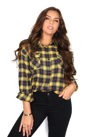 Yellow Lumberjack Blouse