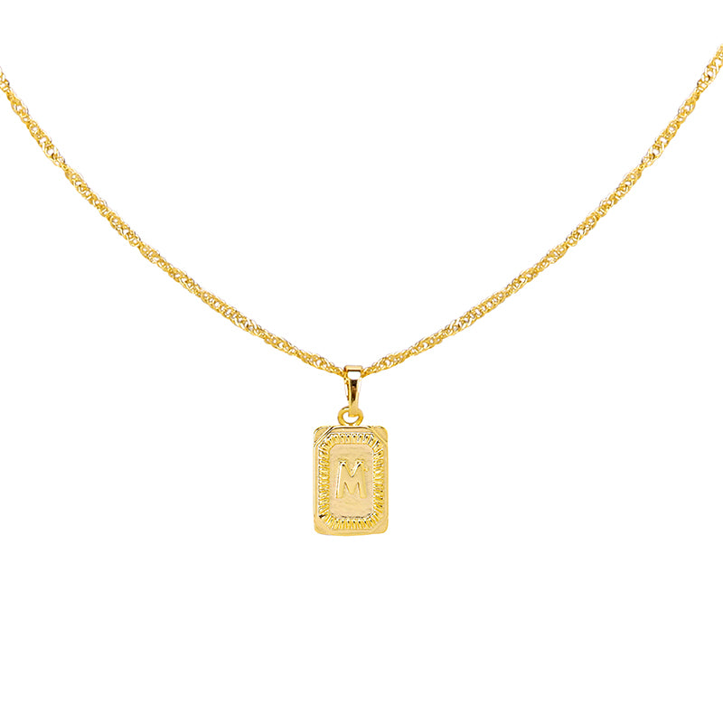 Gold Necklace 'M'