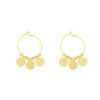 Golden Triple Coin Earrings