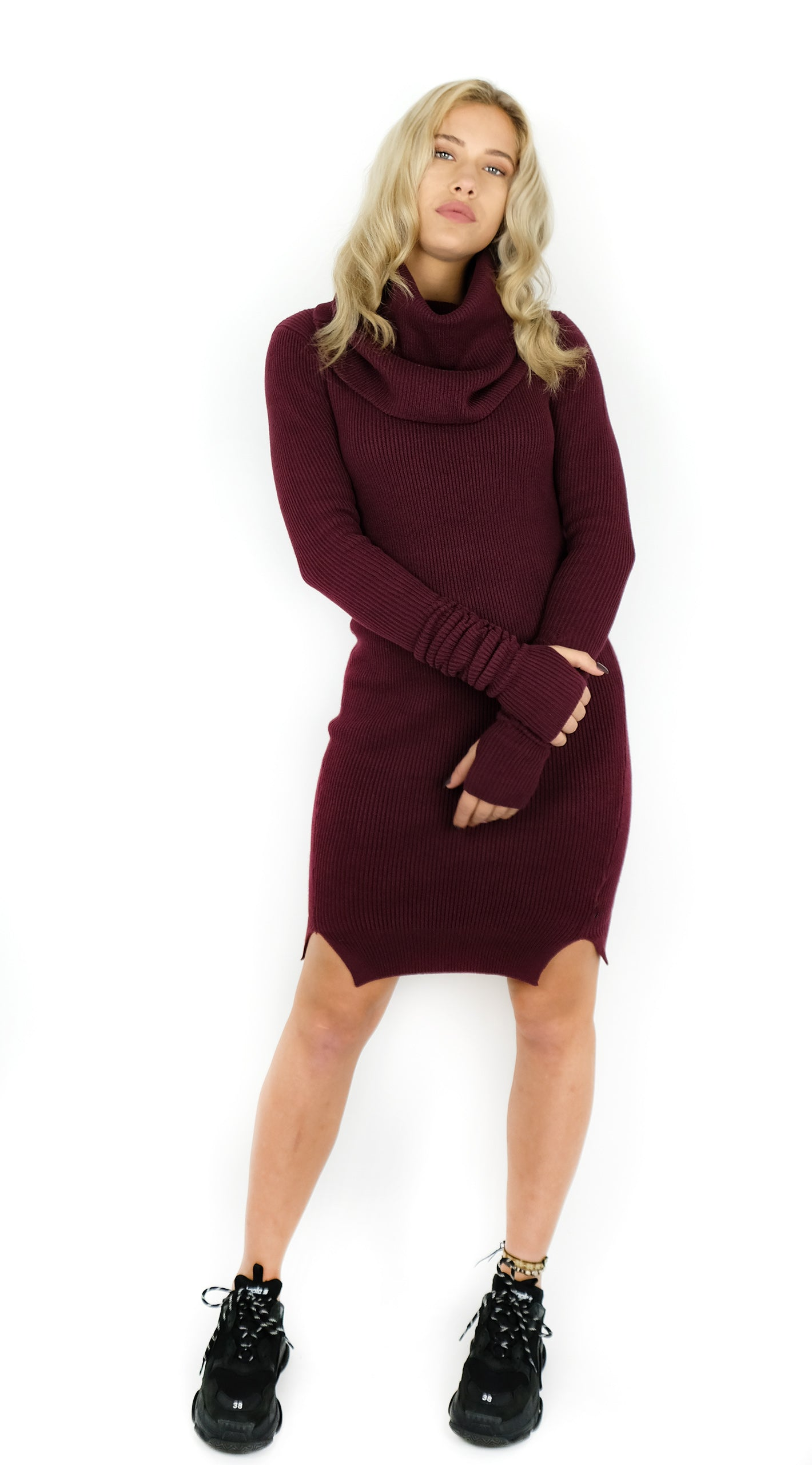 BUYLAU | REINDERS | Willy Turtleneck Long Bordeaux Rood