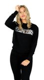 Reinders Sweater Wording Sequins - Black