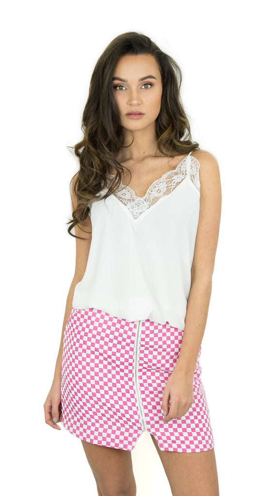 BUYLAU - Basic Lace Top - White - LAURA PONTICORVO