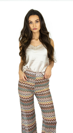 Multi Color Zigzag Pants