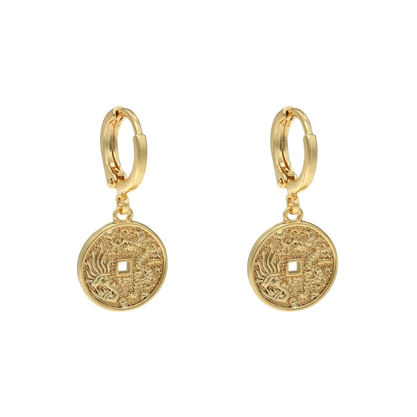 Targaryen Dragon Earrings - Gold